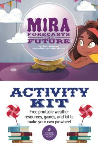 Free printable activity kit with weather games, activities, and make-your-own-pinwheel kit